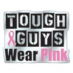Custom Tough Guys Wear Pink Breast Cancer Awareness Lapel Pin with Presentation Card