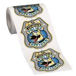 Custom K-9 Junior Police Officer Gold-Foil Stickers-On-A-Roll