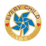 Custom Every Child Matters Pinwheel Lapel Pin With Presentation Card