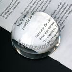 Custom Glass Crystal Dome Optical Paperweight