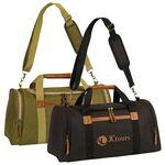 Custom Edmond Duffel Bag w/ Leatherette Trim & U Opening