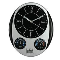 Oval Weather Station Wall Clock