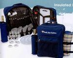 Custom Picnic Backpack For 4 w/ Blanket (Wine & Cheese Service)