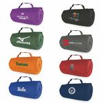 Custom Roll Up Blanket With Pocket with 1 color screened imprint