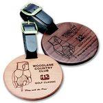 Round Wood Bag Tag