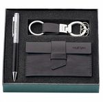 Custom Pen, Key Ring & Card Holder Gift Set