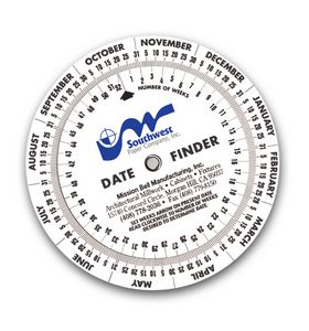Date Finder Calendar Wheel (6 Diameter)