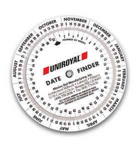 Date Finder Calendar Wheel (4 1/4 Diameter)