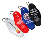 Custom Diamond Hotel Key Tag w/S-Hook (4-Color)