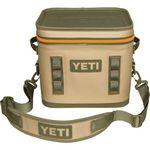 Custom YETI HOPPER FLIP 12 - Field Tan/Blaze Orange