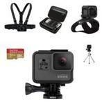 Custom GoPro HERO5 Black Bundle micro SD Card, Casey, Headstrap, Tripod Mount, Chesty, Casey