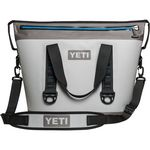 Custom YETI Hopper TWO 30- Fog Gray/ Tahoe Blue