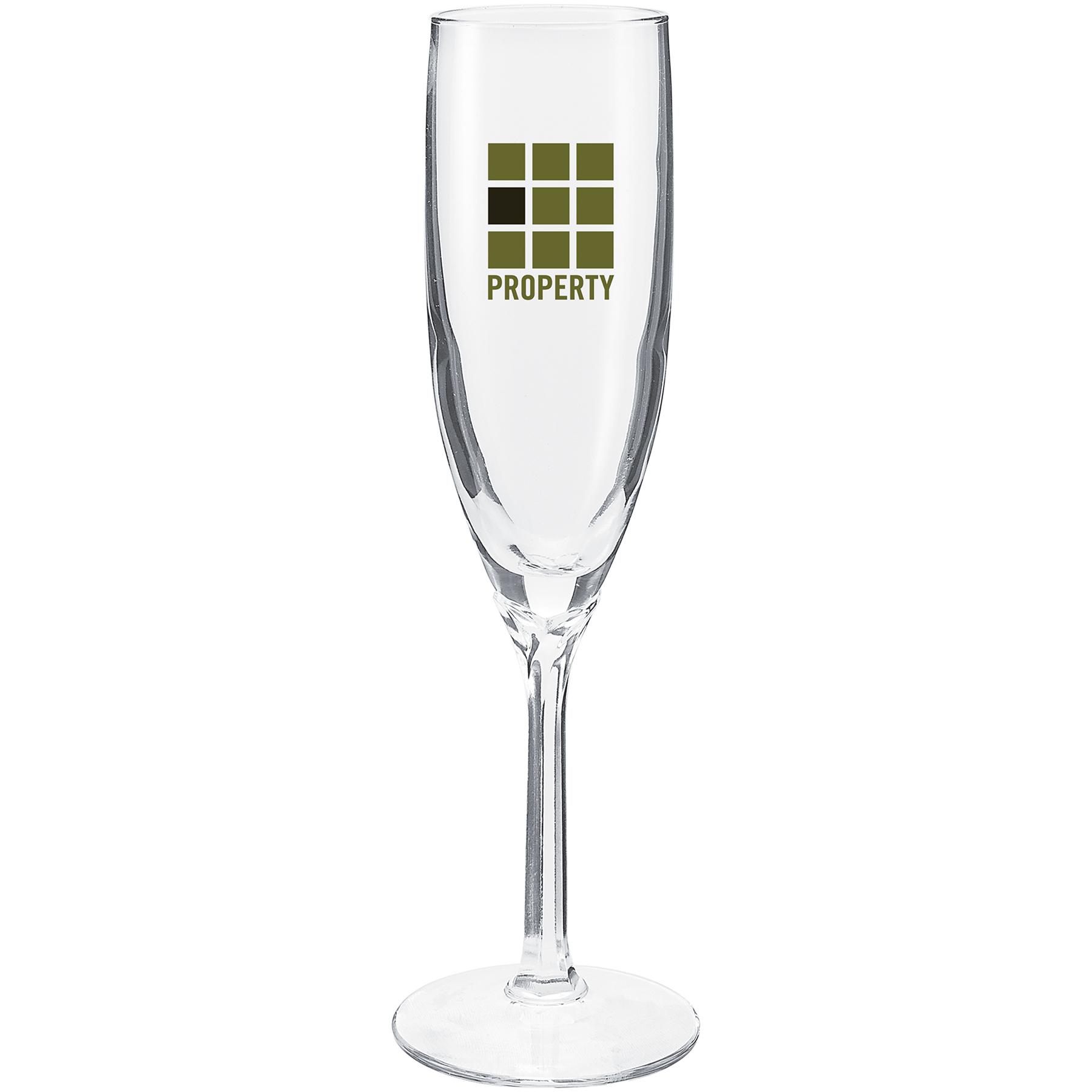 6 Oz Domain Flute Glass