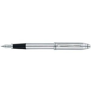 Cross Townsend® Lustrous Chrome Fountain Pen (Medium Point)