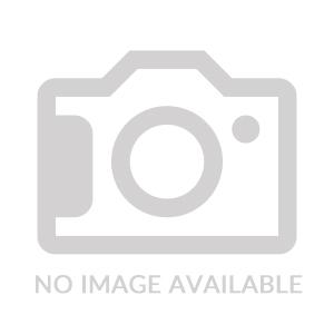 Round Polished Zinc Coaster w/ Debossed Leather Insert & Center Medallion
