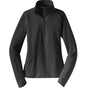 Sport-Tek Ladies Sport-Wick Stretch 1/2 Zip Pullover Jacket
