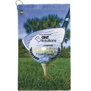 Terry Town Microfiber Velour Sublimation Golf Towel 11 x 18