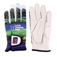 Sublimated Lycra Glove with Leather Palm