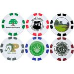 Custom Custom Printed Poker Chip Golf Ball Marker