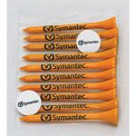 Golf Tee Polybag Combo Pack with (10) 2 3/4 Inch Tees and (2) Ball Markers