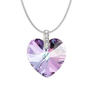 Swarovski Elements Crystal Heart Necklace - Light Amethyst - P8201-SE-LAMAB  - IdeaStage Promotional Products 5a661222e7d8