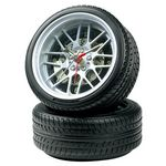 Custom Miniature Auto Tire Desk Clock w/ Tire Base