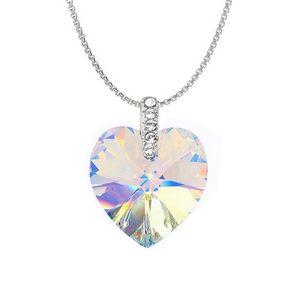 a175a920e Swarovski Elements Crystal Heart Necklace - Aurora Borealis -  P8201-SE-CRYAB - IdeaStage Promotional Products