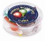 Custom Birthday Balloon White Celebration Cake Kit.