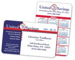 2-Color Calendar & Business Laminated Wallet Card w/Thick Border