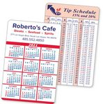 2-Color Calendar & Info Panel Laminated Wallet Card w/Thick Border