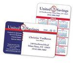 Horizontal 2-Color Calendar & Business Laminated Wallet Card