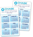 Custom 6 Month 2 Sided Calendar Laminated Wallet Card- Vertical