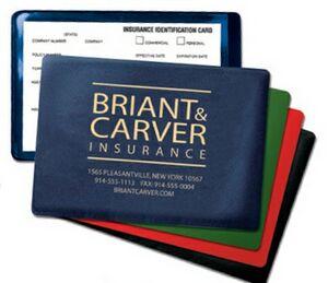 Foil-Stamped Vinyl Insurance Card Holder