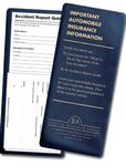 Custom Vinyl Insurance ID Card Holder w/Auto Accident Instructions (4¼
