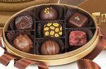 Custom Oval Bronze 7 Piece Premium Belgian Chocolate Truffle Gift Box