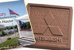 Custom Molded Belgian Chocolate Deluxe Square w/ 4 Color Process Wrapper
