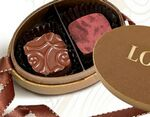 Custom Oval Bronze 2 Piece Premium Belgian Chocolate Truffle Gift Box