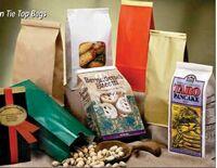 "1 Lb. Re-Closable Tin Tie Coffee Bean Bag (4 3/4""x2 1/2""x9 1/2"")"