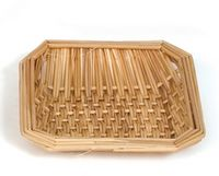 "Square Wicker Basket (6""x6""x1"")"