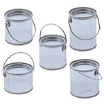 "Clear Pail W/ Tin Lid (4""x4"")"
