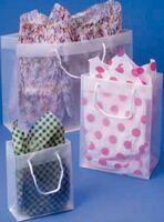 "Clear Rope Handle Shopping Tote Bag (6""x3""x7"")"
