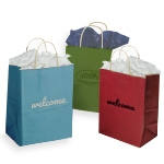 "CORE4 Quick Imprint Shopping Bag w/Paper Twist Handles (8""x4 3/4""x10 1/4"")"