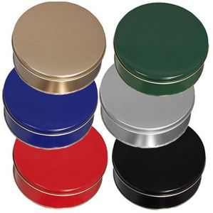 Round Colored Cookie Tin (6 3/16x1 5/8)