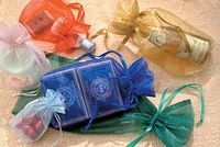 """Sheer Organza Satin Cord Gift & Wine Pouches (2""""x2 1/2"""")"""