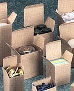Reverse Tuck Flap Kraft Box (4x4x4)