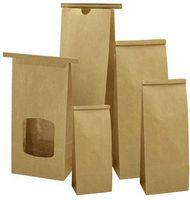 "1/2 Lb. Biodegradable PLA Lined Tin Tie Bag (3 3/8""x2 1/2""x7 3/4"")"