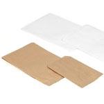 "White Kraft Flat Plain Paper Merchandise Bags (7 1/2""x10 1/2"")"