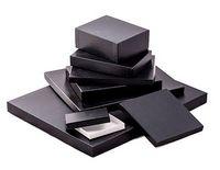 """Great Lakes Black Leatherette Photo Box w/ White Base (7 1/2""""x5 1/2""""x1"""")"""