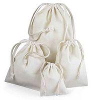 """Premium Cotton Drawstring Pouches (3""""x4"""")"""