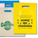 "Custom Die Cut Handle Bags w/Fold-Over Top (12""x16 1/2""x3"")"